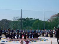 常陸太田市 山吹運動公園 竣工式 幼稚園の踊り