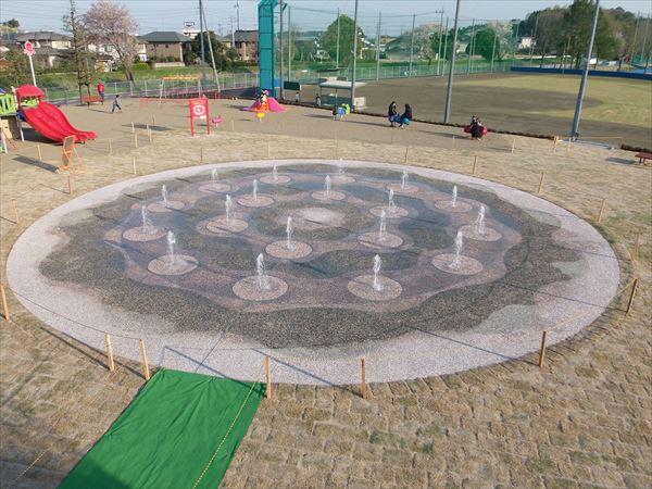 常陸太田市 山吹運動公園 噴水池施設